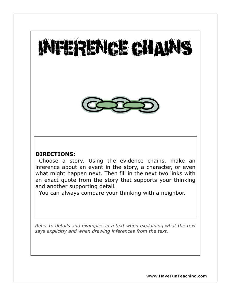 Inference Chains Activity