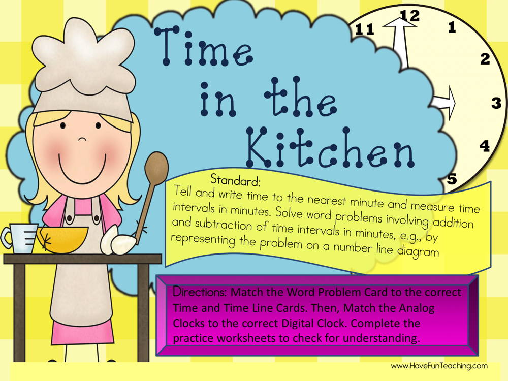 Time in the Kitchen Time Intervals Activity