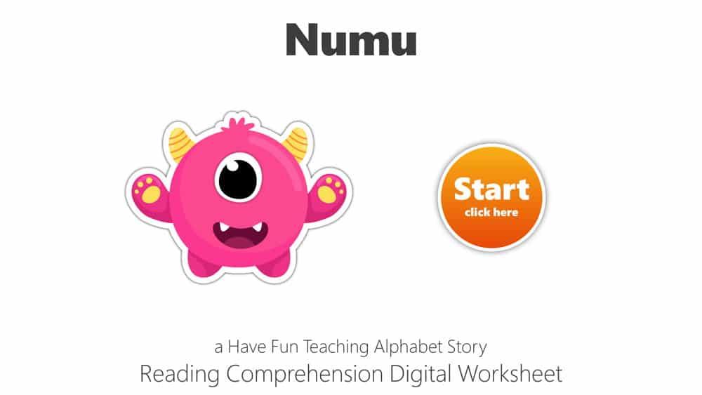 Letter N Numu Reading Comprehension Digital Worksheet • Have Fun Teaching