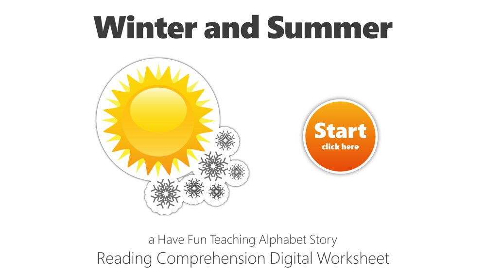 Letter W Winter And Summer Reading Comprehension Digital Worksheet • Have  Fun Teaching